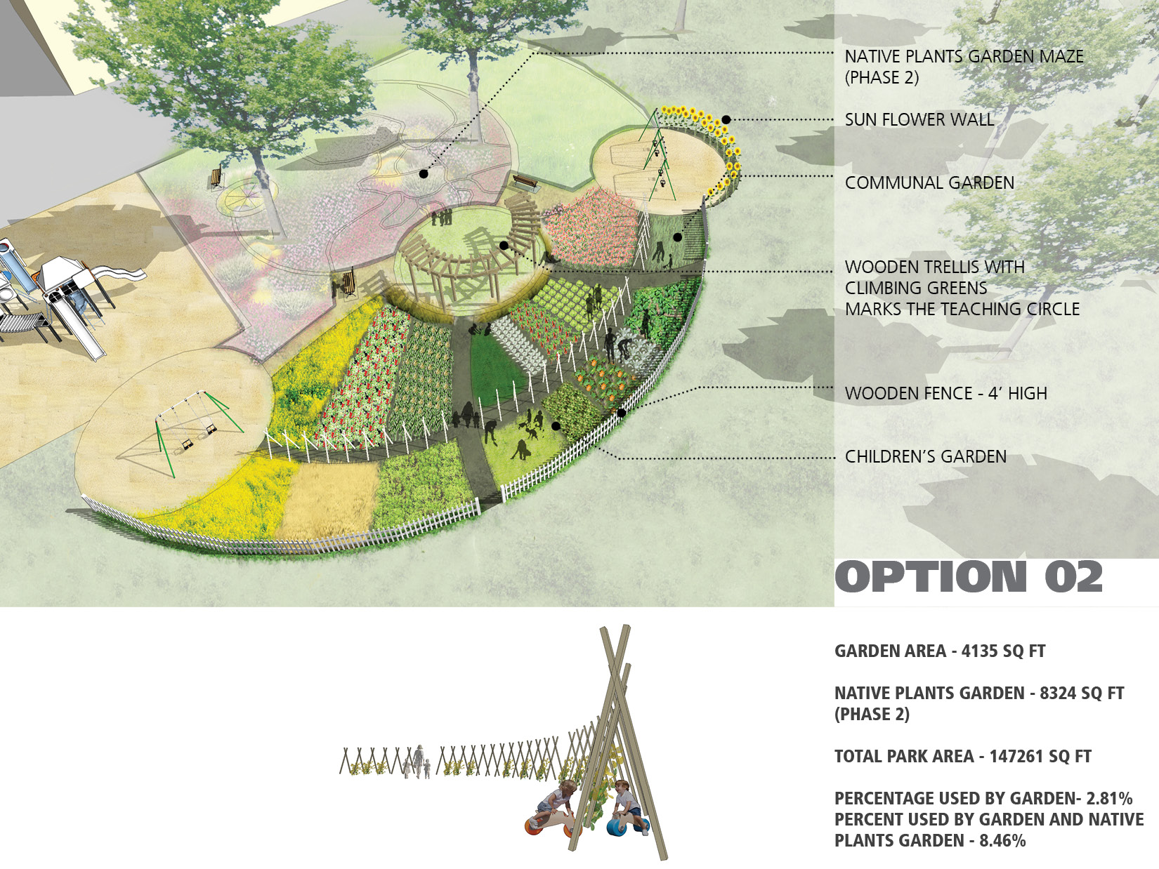 Garden designs dallington pollinators community garden for Garden and design