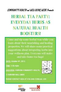 Herbal Tea Party Flyer