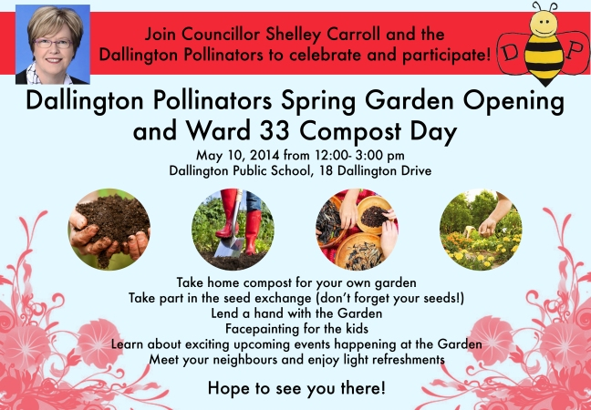Come join us for the 2014 opening of the garden!