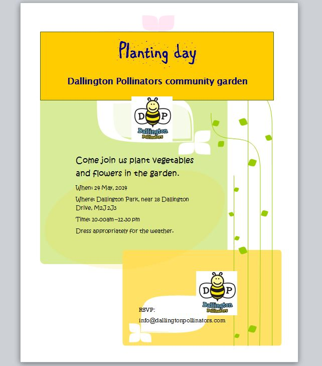 Join us for planting day on May 24, 2014