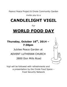 Candlelight Vigil Poster